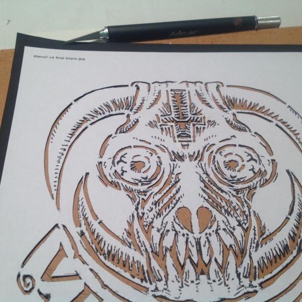 stencil in process